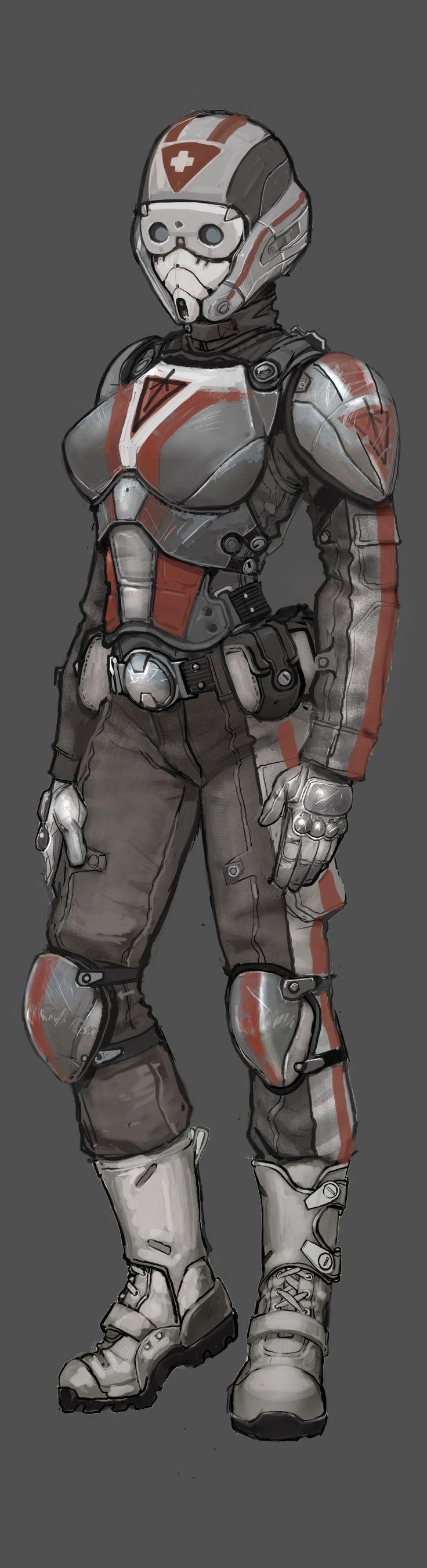 PlanetSide 2   Female TR Medic