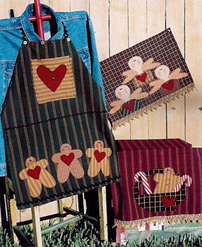 primitive applique homespun towels   yummy tea towels apron and applique towels pattern