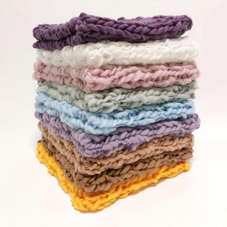 Häkeln Babydecke Neugeborenen Fotografie Requisiten Chunky Knit Decke Korb Füllstoff Hintergrund Fotografie Studio Zubehör