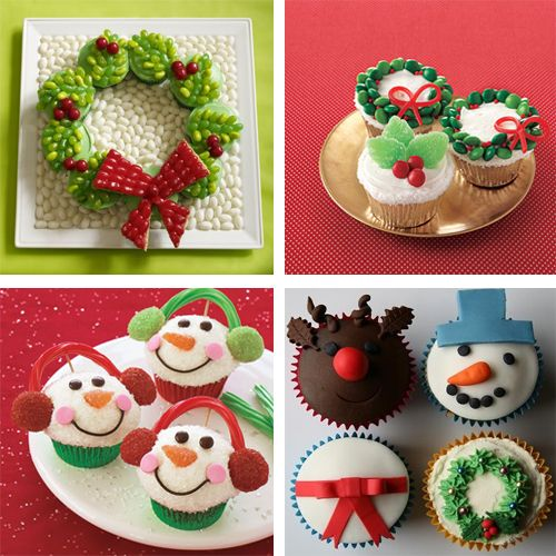christmas + character themed cupcakes for kids parties #holidayentertaining