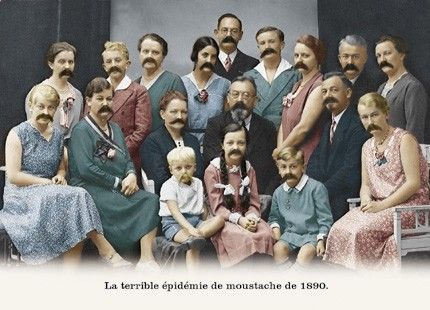 la terrible épidémie de moustache de 1890