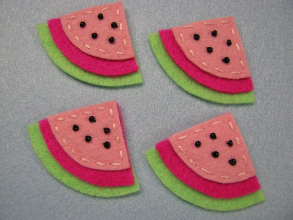 Watermelon felt arts and crafts party ideas pinterest for Felt arts and crafts