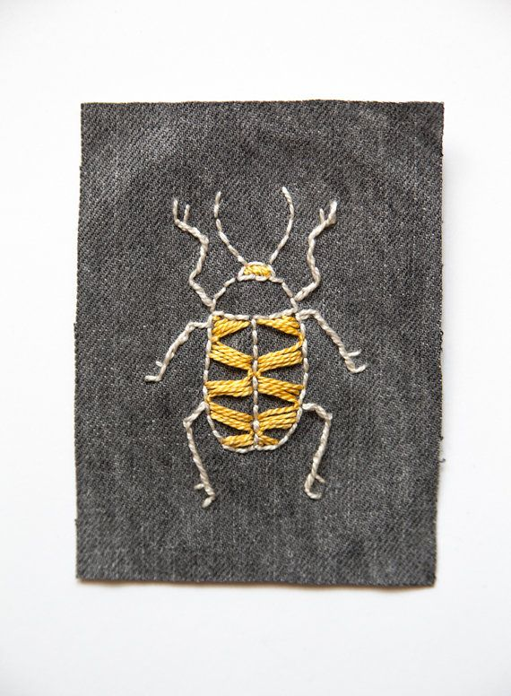 Embroidered Beetle Patch by closecallstudio on Etsy, $10.00