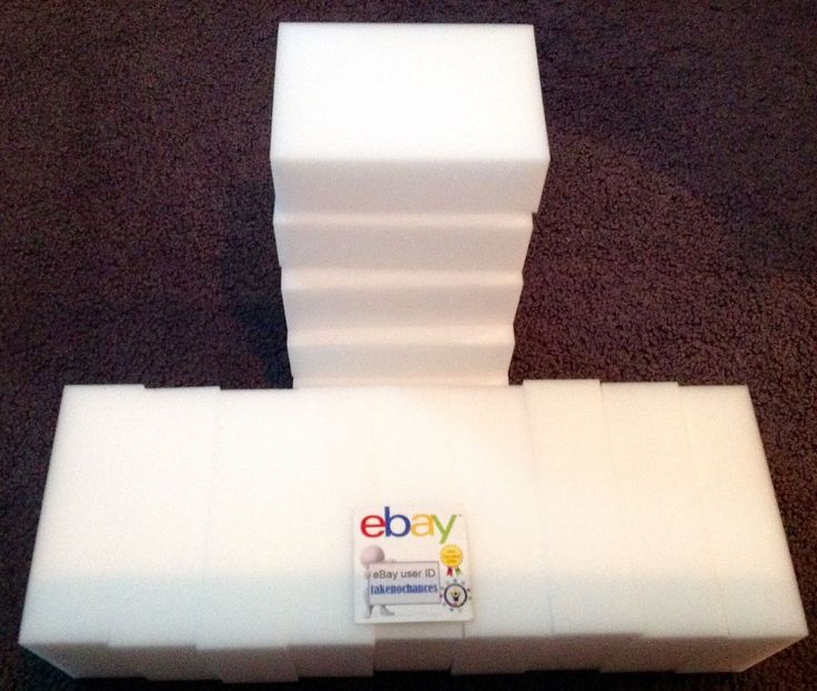 """awesome 60 Pack Extra Large 1-1/4"""" Magic Sponge Eraser Melamine Foam Cleaning USA Seller   Check more at http://harmonisproduction.com/60-pack-extra-large-1-14-magic-sponge-eraser-melamine-foam-cleaning-usa-seller/"""