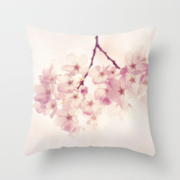 Sylvia Cook - Cherry Blossoms Cushion Cover