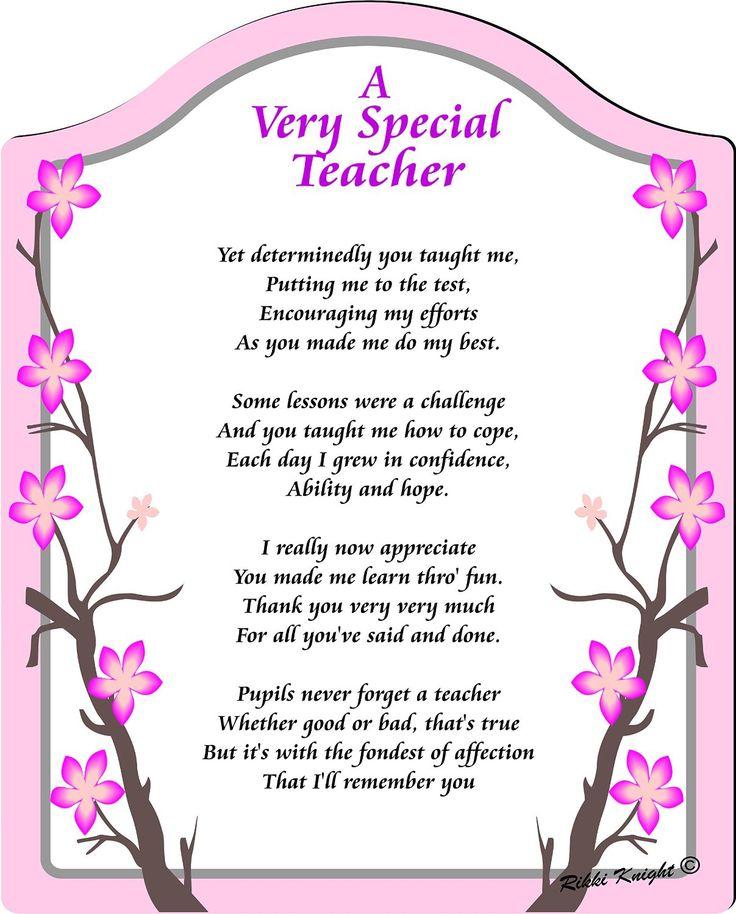Amazon.com: AVery Special Teacher- Thank You Touching 5x7 ...