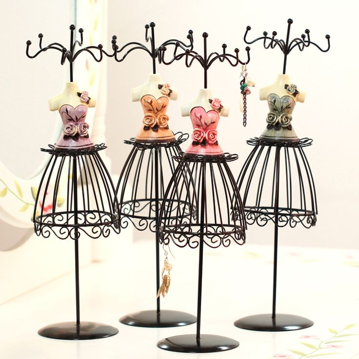 Evening dress model jewelry display rack empress charm earrings hanger resin craft home decoration birthday gifts