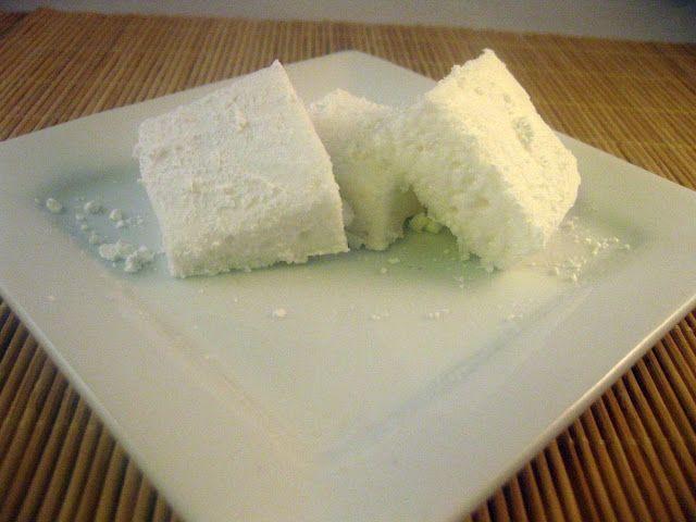 Marshmallows made from powdered egg whites. Food Storage Recipe.Food Storage Recipe