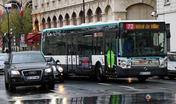 linhas de ônibus em Paris