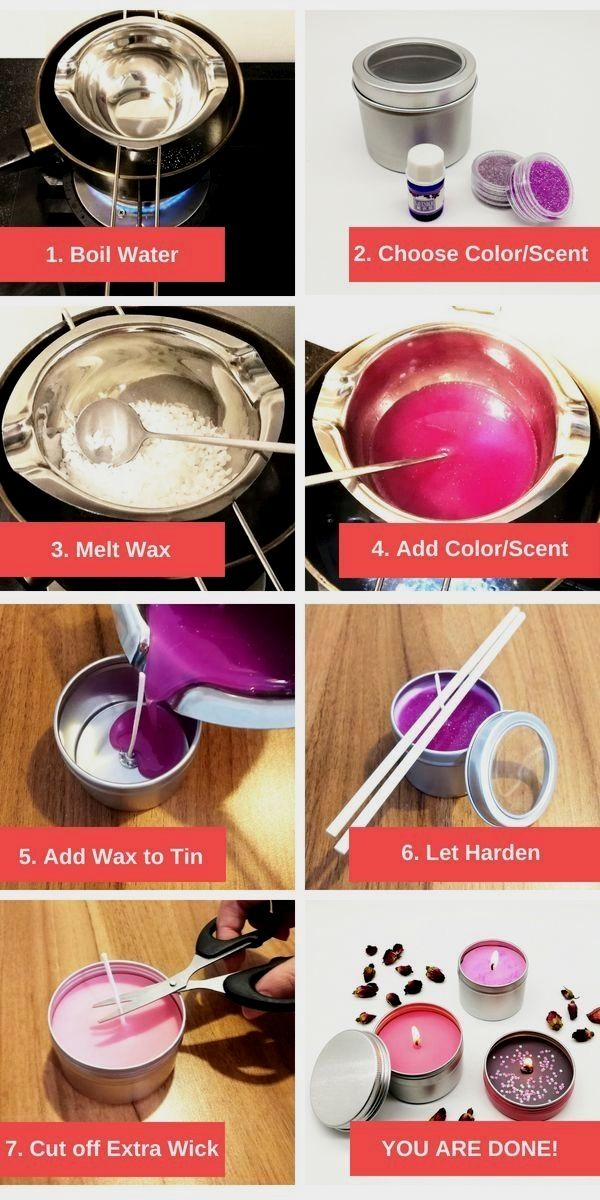 How To Make Candles At Home Uk in 2020 Diy candles with