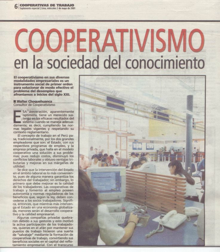 COOPERATIVISMO EN LA SOCIEDAD DEL CONOCIMIENTO- ENTREVISTA PERÚ DIARIO OFICIAL EL PERUANO