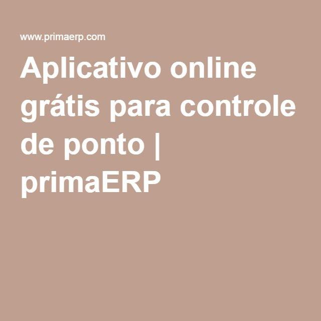 Aplicativo online grátis para controle de ponto | primaERP