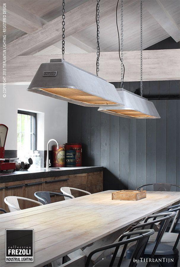 Frezoli industrial lighting bizz lamp hanging on 2 chains 835