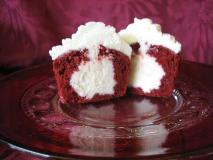 Red Velvet Filled Cupcake Cupcakes Pinterest Cupcake