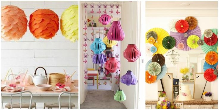 38 best images about manualidades on pinterest polymer - Adornos de papel para fiestas ...