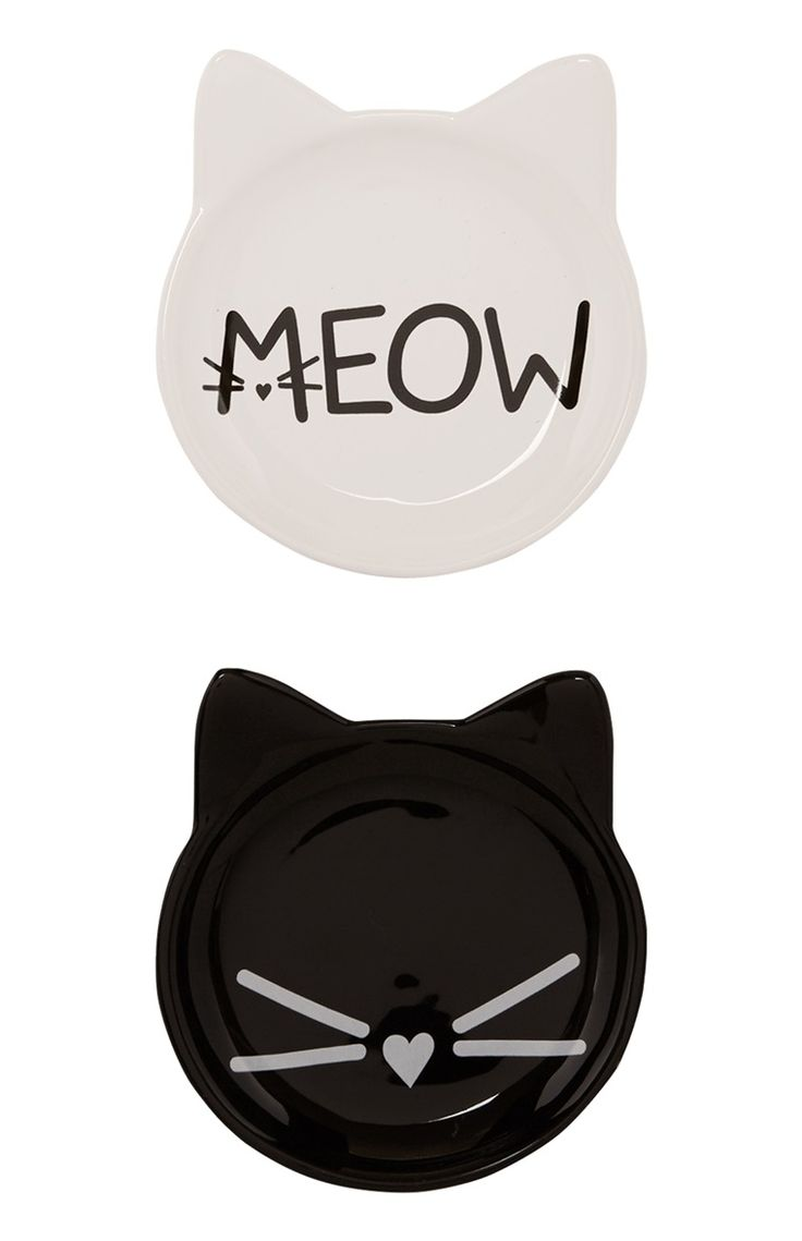 2 Pack Mono Cat Trinket Trays