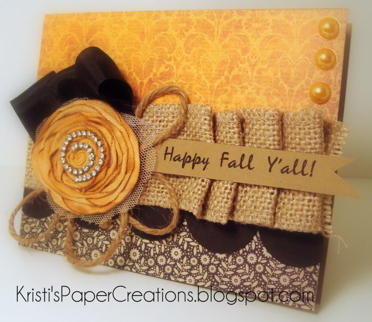 17 best images about cards burlap on pinterest fall for Burlap ribbon craft ideas