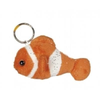 Image of Promotional Clown Fish Keyring. Printed Toy Key Ring