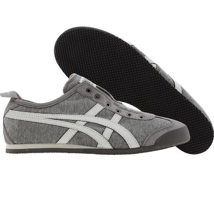 Asics Womens Onitsuka Tiger Mexico 66 Slip On (heather grey / white) D1B7N-