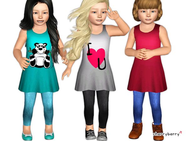 Adorable outfit for toddlers by cherryberrysim sims 3 downloads cc