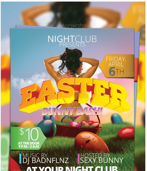25 Beautiful Easter Flyer Template