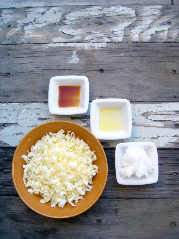 Saved beeswax is a great base for homemade lip balm