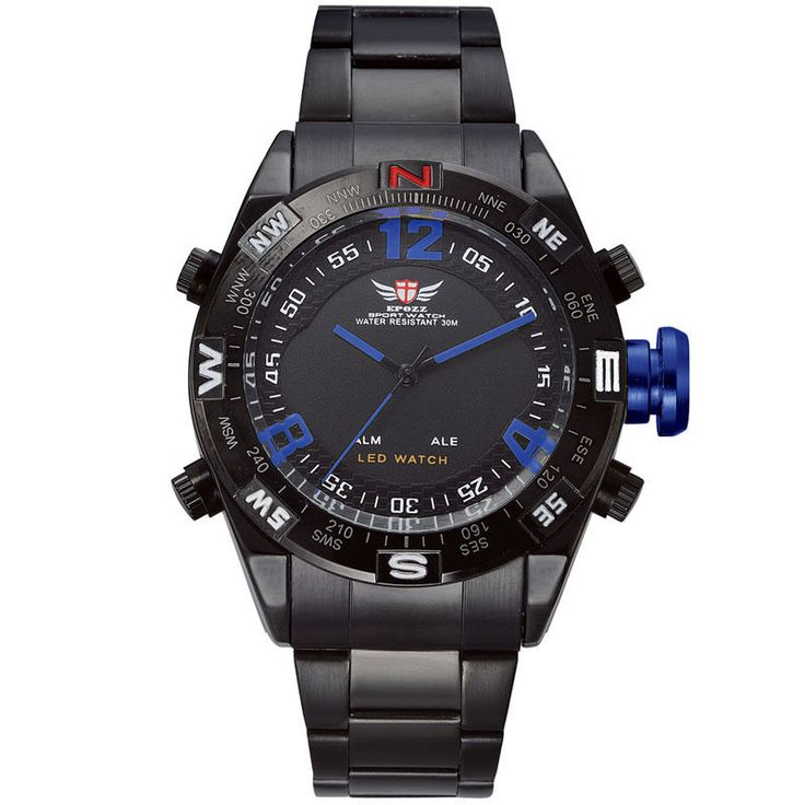 EPOZZ 2310 Men's Sports Watch Relogio Male Military Watches Black Stainles Steel #Epozz #Sport
