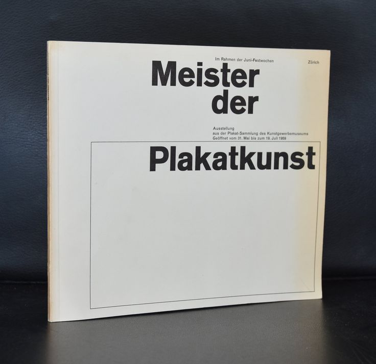 Kunstgewerbemuseum Zurich # MEISTER DER PLAKATKUNST # 1959, nm