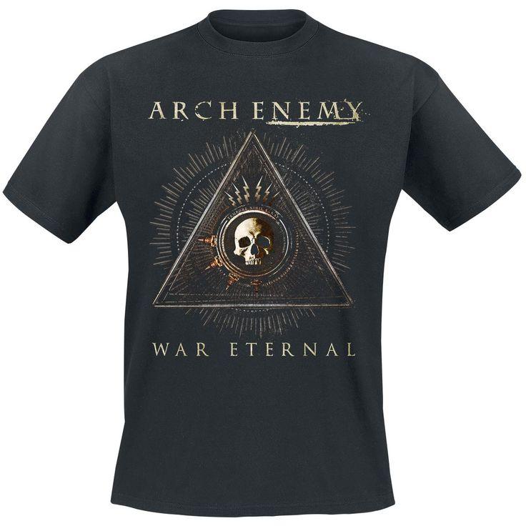 """Classica T-Shirt nera """"This Is Fucking War"""" degli #ArchEnemy con stampa sul davanti che raffigura la copertina dell'album """"War Eternal"""". Sul retro della maglietta è stampata a grandi lettere la scritta """"This Is Fucking War""""."""