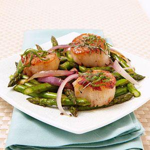 Pan-Seared Scallops with Lemon Vinaigrette: Pan Seared Scallops, Healthy Dinner Recipes, Seafood, Scallops Recipe, Easy Healthy Dinners, Scallop Recipe, Lemon Vinaigrette, Healthy Recipes