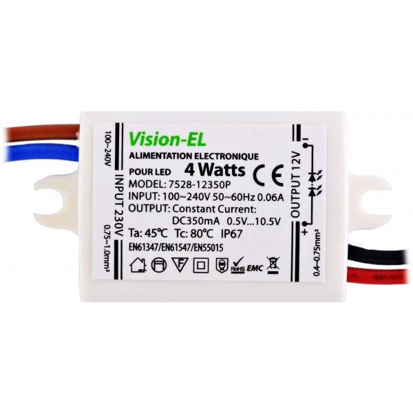 Transformateur LED 220V vers 12V 4W - 13,90 €