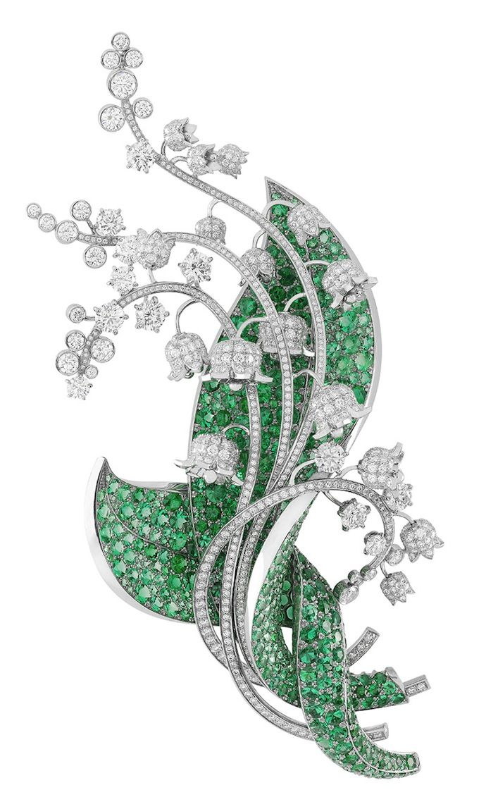 Van Cleef & Arpels - the Palais de la Shance [sic] lily of the valley floral flower collection brooch - pin