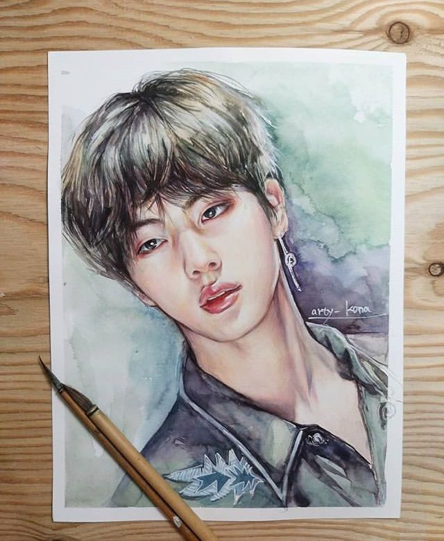 Arty Kona On Ig Jin Bts Bts Drawings Bts Fanart Fan Art