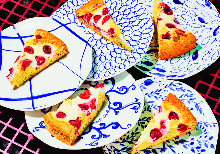 Joghurtkuchen mit Himbeeren