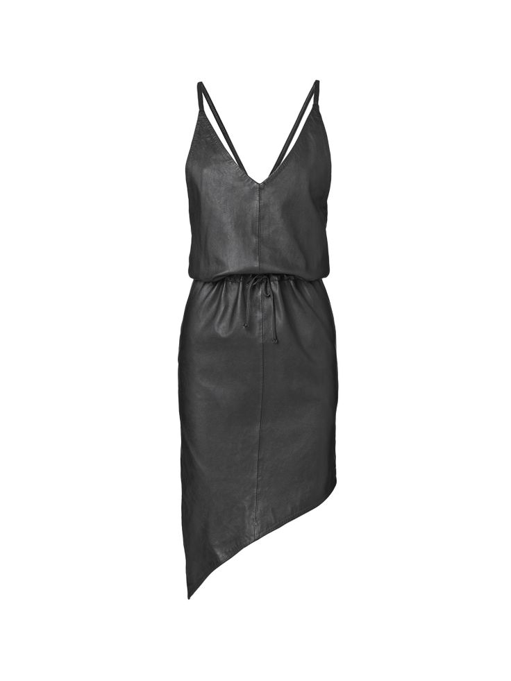 Black leather dress from Maikel Tawadros http://www.leneublack.com <3 #leneublack #maikeltawadros #blackdress