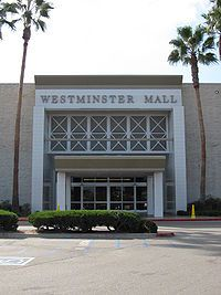 Westminster, California.  Lived here from the age of 11 to 19.  They built this mall when I was a teenager.  A favorite place for teens to hang out at.
