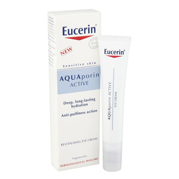 Eucerin AQUAPorin ACTIVE Eye Cream 15ml Dehydrated sensitive skin around the eyes has an uneven natural moisture balance and tends to look less fresh. Eucerin AQUAPorin ACTIVE Revitalising Eye Cream provides deep and long-lasting hydration  http://www.MightGet.com/april-2017-2/eucerin-aquaporin-active-eye-cream-15ml.asp