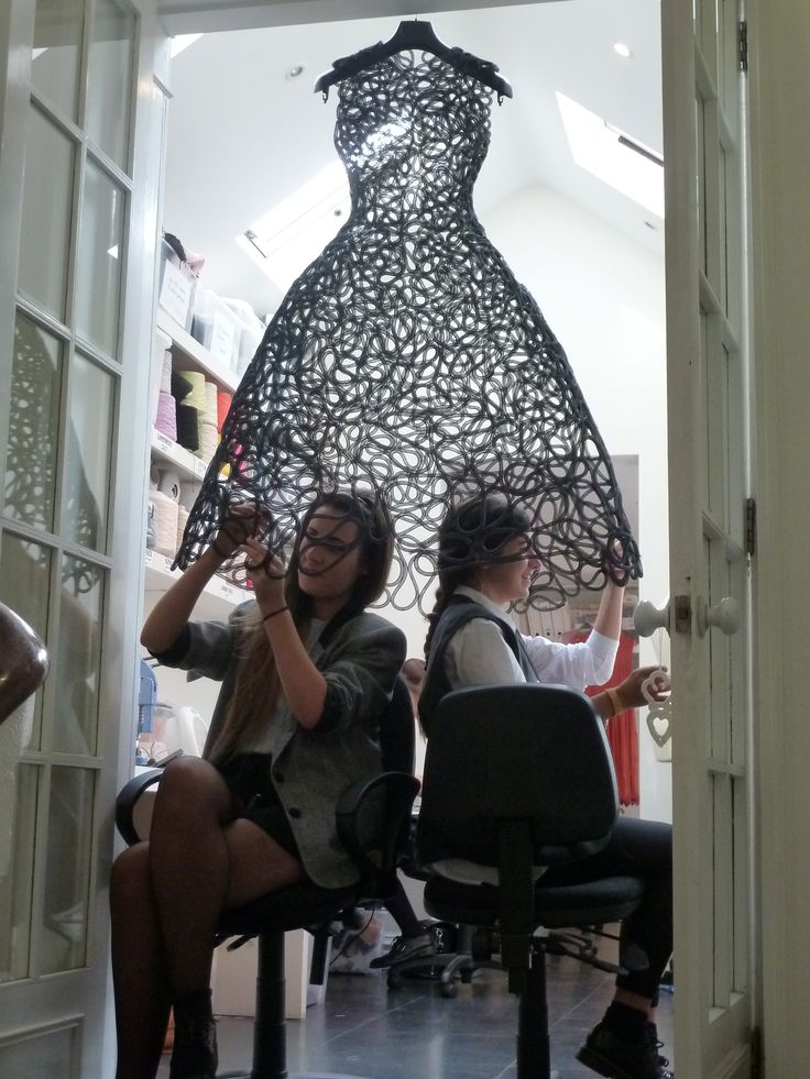 SS14 finale dress in the making, studio in Dublin #johnrocha #ss14 #dress #craftsmanship photo courtesy of Jana Heimanis
