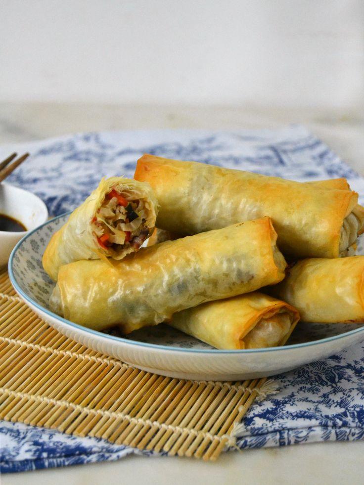 Rollitos de primavera caseros al horno. Fáciles y deliciosos