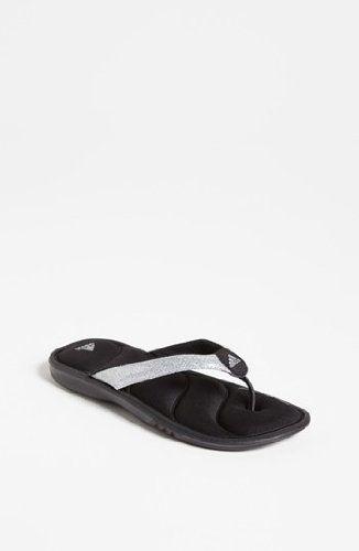 adidas Black Chilwyanda Thong Sandals - Girls *** Check this awesome image  : Adidas