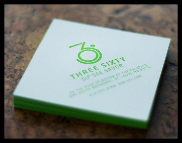 Three Sixty - Business Card Design Inspiration | Card Nerd