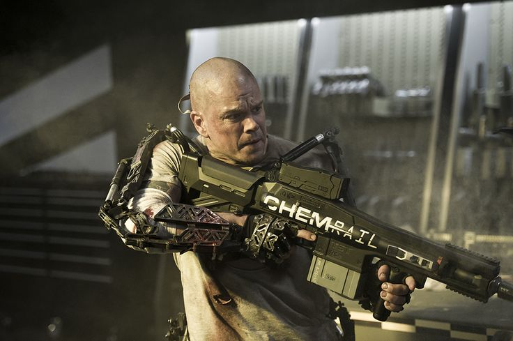 'Elysium' review: class warfare heads tospace. The director of 'District 9' turns Matt Damon into man and machine. #Hollywood #Movies