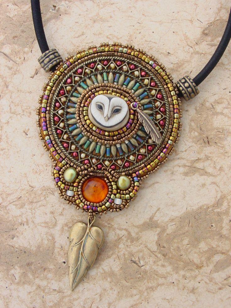 KIT Lil Hoot Owl Filigree Pendant by HeidiKummliDesigns on Etsy, $95.00