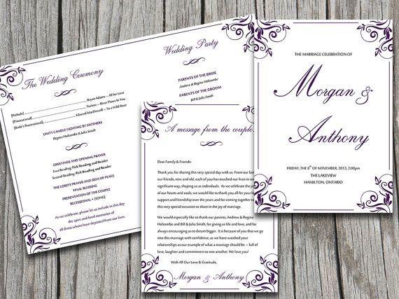 wedding programs templates microsoft word