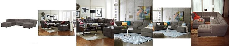 Roxanne Fabric 6-Piece Modular Sectional Sofa (Corner Unit, Chaise, 3 Armless Chairs & Ottoman)