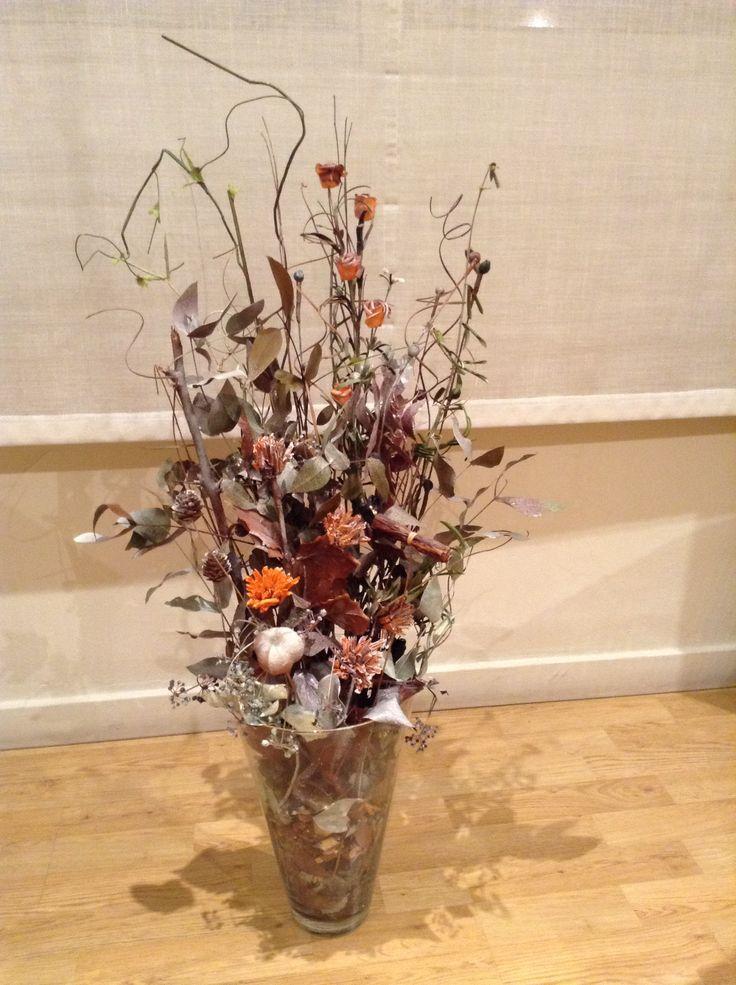 Flores secas con flores artificiales pintadas jarrones - Jarrones flores artificiales ...