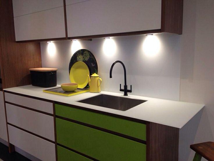 Kitchen Tiles John Lewis deco matte glass splash back and 10mm worktop from deco glaze uk