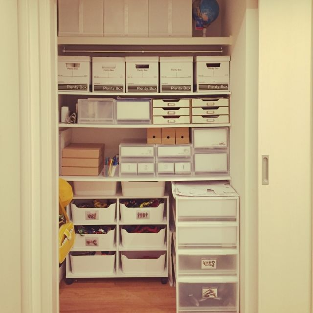 IKEA/セリア/無印良品/おもちゃ収納/可動棚/押入れ収納…などのインテリア実例 - 2014-10-29 20:16:05 | RoomClip(ルームクリップ)