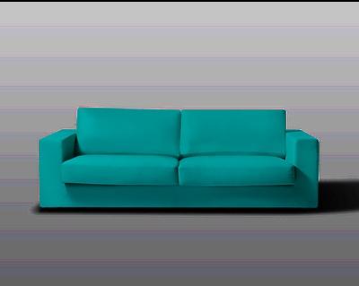 Turquoise sofa - http://www.oppa.com.br/