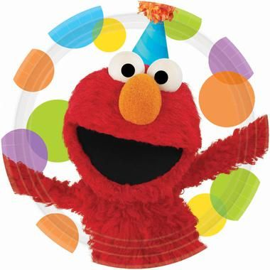 "The kids will love to see lovable Elmo front and center on these Sesame Street Elmo Party Dinner Plates! Includes 8 paper dinner plates that each measure 9"""" in diameter.Includes: (8) themed 9"""" paper"